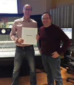 Kevin and David at Berklee Studio January 2018